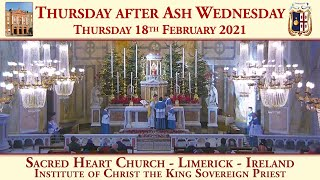 Thursday 18th February 2021: Thursday after Ash Wednesday