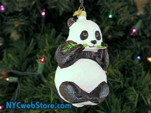 Giant Panda Christmas Ornament - YouTube