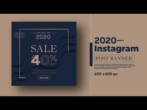 Sale Banner Design For Instagram Promote Banner | Adobe Illustrator CC