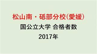 松山南・砥部分校高校 大学合格者数 2017~2014年【グラフでわかる】