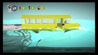 Little big planet 3 Tsunami survival with thundershot and Top gun GET ON THE BUS! (funny moments)