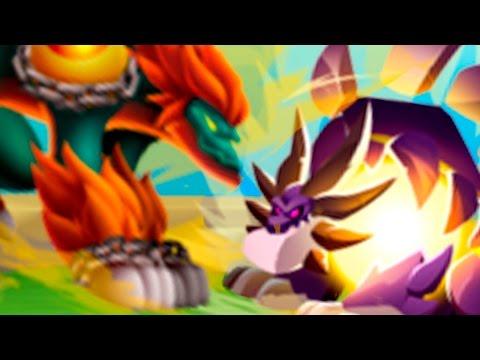Dragon City - High Tension Dragon VS High Nucleus Dragon - Dragon Games DC Island