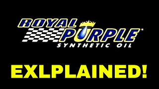 Royal Purple Synthetic Oil Explained V8TV-Video