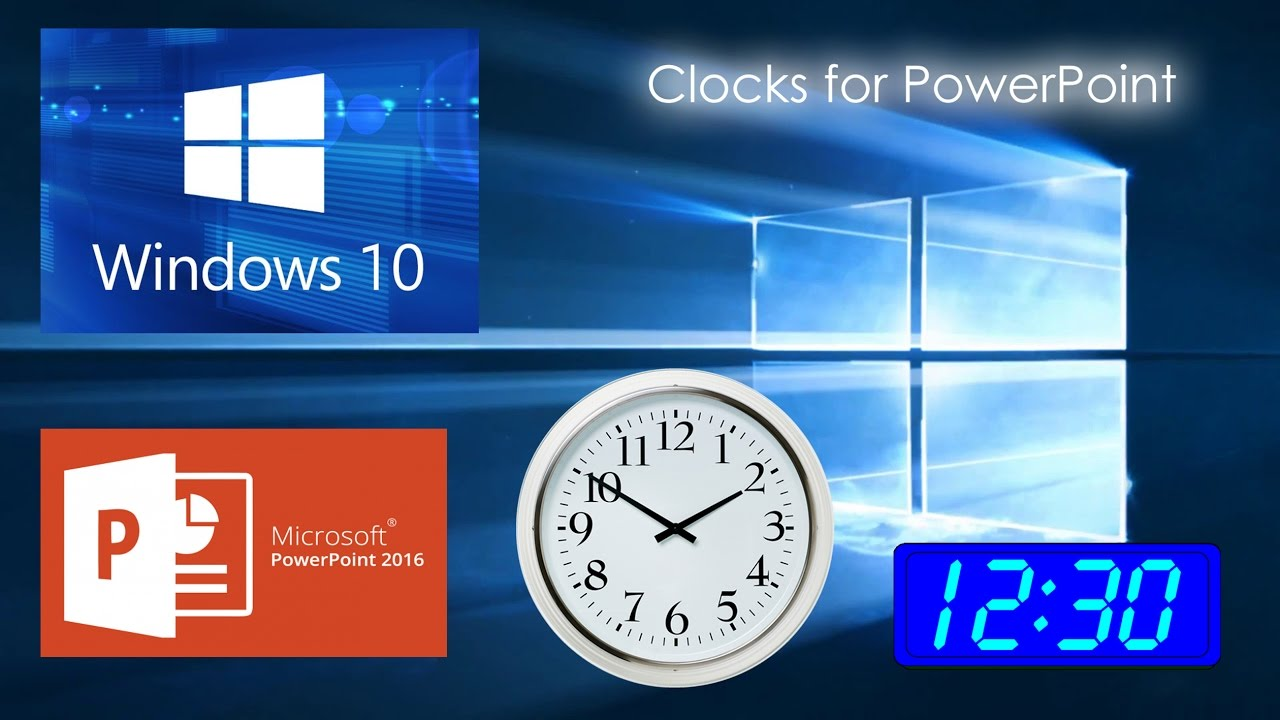 How to display a clock in PowerPoint