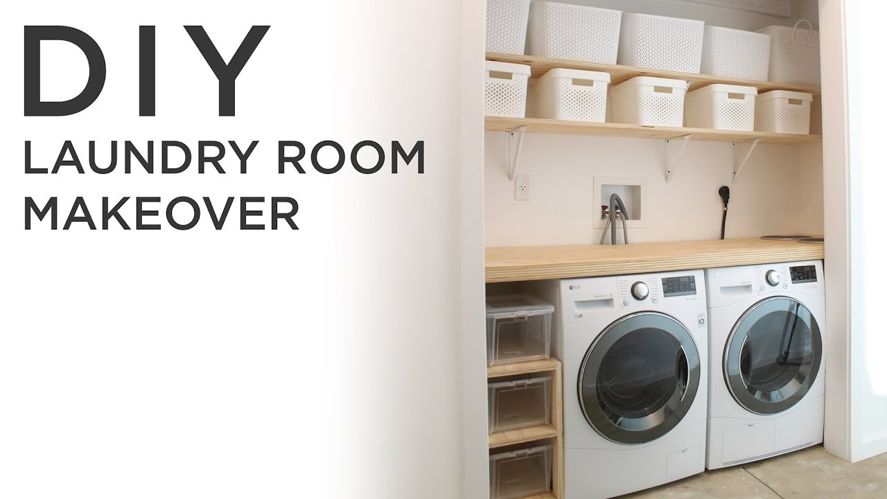 Diy laundry room makeover youtube diy laundry room makeover solutioingenieria Choice Image