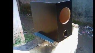 DIY 6 inch slim subwoofer box Resimi
