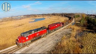 Watching Trains From Above: Northwest Ohio (Drone Videos)