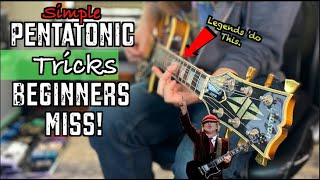 Simple Pentatonic Tricks For Beginners. (The Legends Do These)