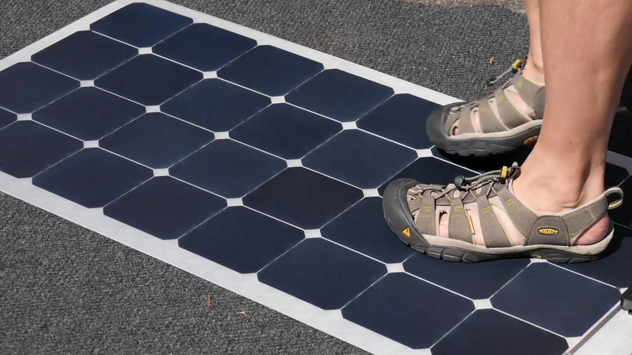 Very Rugged Flexible Solar Panel Lensun 100 Watt On Rv