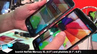 """Iconbit Nettab Mercury XL 4.5"""" phone, Nettab 6.1"""" and 6.5"""" phablets"""