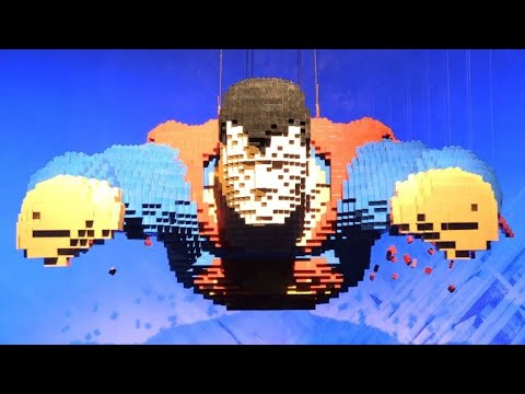 Lego superheroes land at Paris exhibition