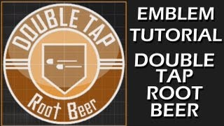 EMBLEM TUTORIAL: DOUBLE TAP ROOT BEER (Glossy, 32-layer)