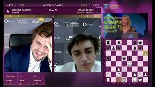 World Champion Carlsen Laughed and then got checkmated by Dubov! | Opera Euro Rapid 2021