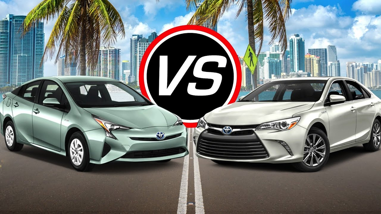 2016 toyota prius vs camry hybrid spec comparison youtube. Black Bedroom Furniture Sets. Home Design Ideas