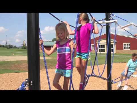 KidNetix Ropes Course   Net Playground Equipment   GameTime