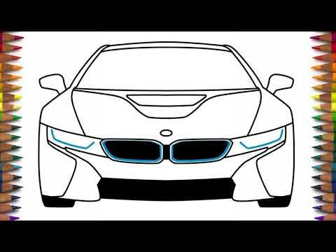Как нарисовать машину БМВ ай8 BMW I8