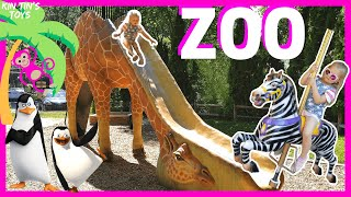 Kin Tin Visits the ZOO | Learn Animals for Children and Toddlers | Penguins of Madagascar