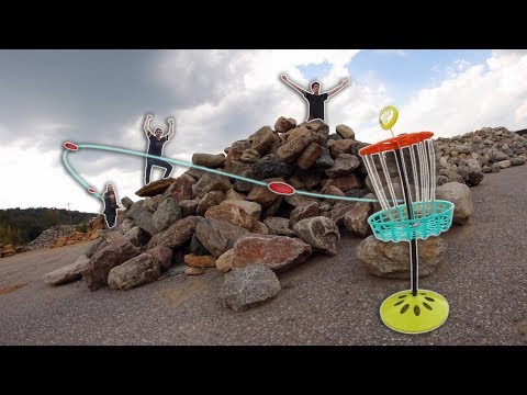 ULTIMATE MINI DISC GOLF TRICKSHOT BATTLE! | ROUND 1