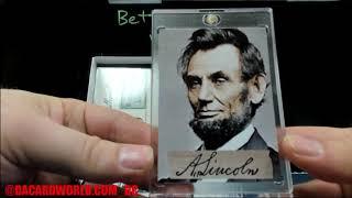 Matt's Historical Autograph's Civil War Divided Personal break. J.A. Garfield Presidential Autograph