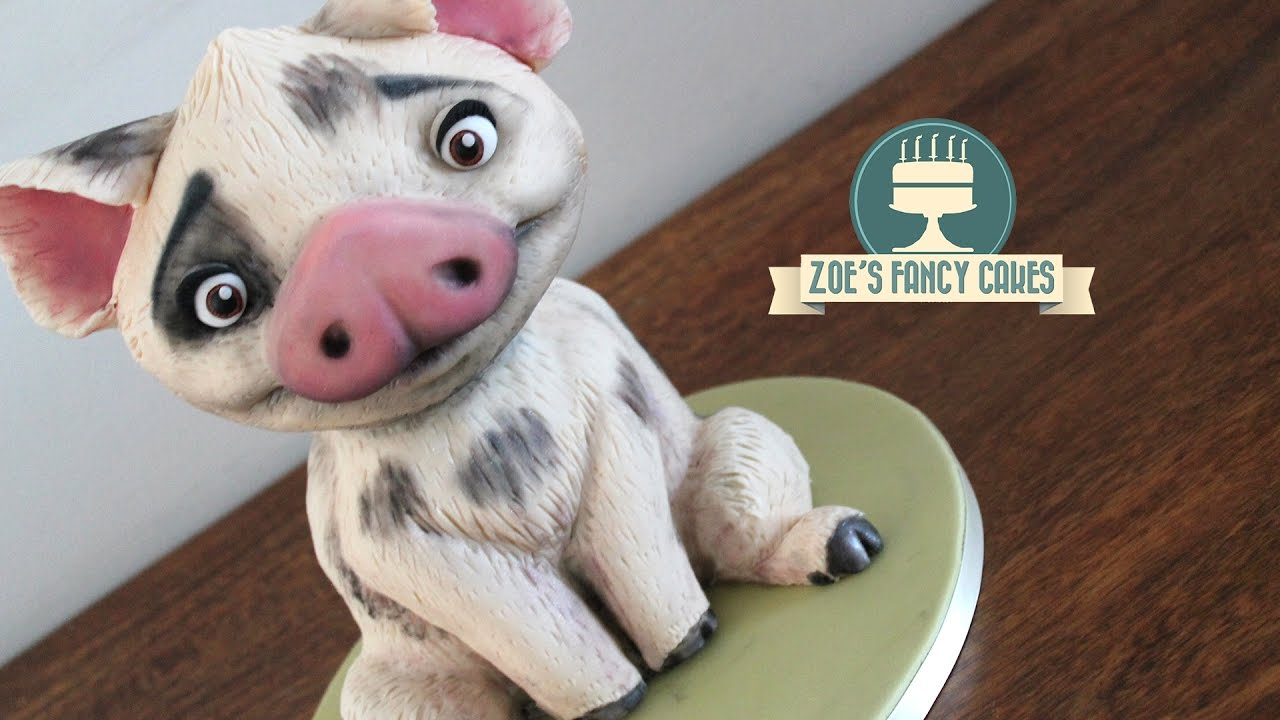 moana cake pua the pig youtube