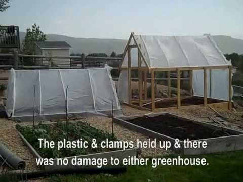 Greenhouses With Pvc Amp Plastic Sheeting In High Winds No