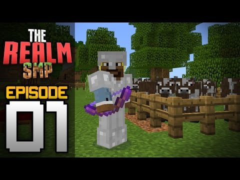 Realms Multiplayer Survival Ep. 1 - HISTORY IN THE MAKING! - Minecraft PE (Pocket Edition)