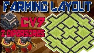 Clash of Clans - Layout de Farming pra CV9 (2 Dispersores Aéreos) ATUALIZADO