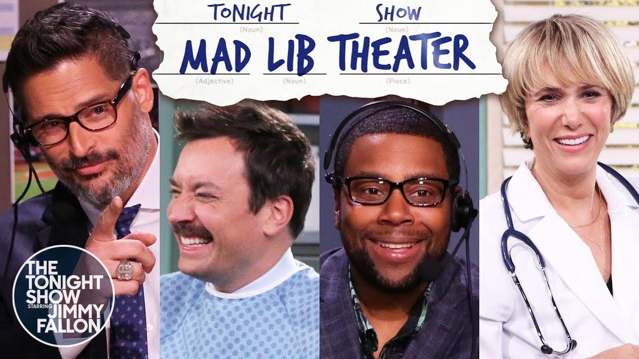 Mad Lib Theater withKenanThompson, Joe Manganiello and Kristen Wiig | The Tonight Show