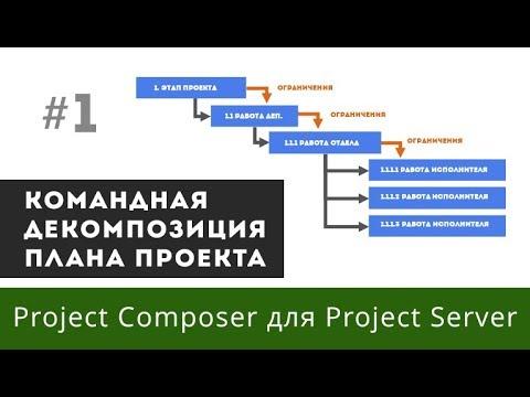 Декомпозиция проекта в Project Composer для Project Server
