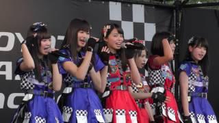 """Tsubasa wa Iranai"""" by AKB48 Team 8 in TOYOTA GAZOO Racing PARK in S..."""