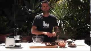 Pete Evans Makes Fruit & Nut Balls With Healthstart Juicer/processor