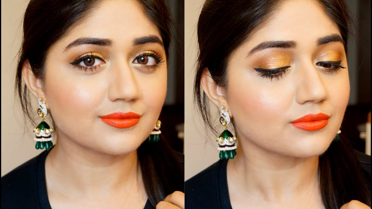 Indian Wedding Guest Makeup corallista - YouTube