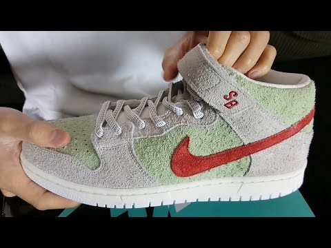 These Sneakers Celebrate 420! Nike SB Dunk Mid Pro QS White Widow ...