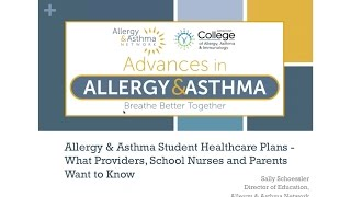 Students with allergies and asthma have daily needs and can also be...