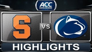 2013 ACC Football Highlights | Syracuse vs Penn State | ACCDigitalNetwork