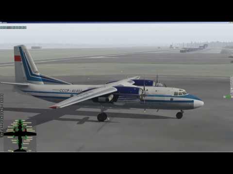 X-plane | Felis | АН 24 (An 24) | Полет по РСБН | ULAA - ULMM