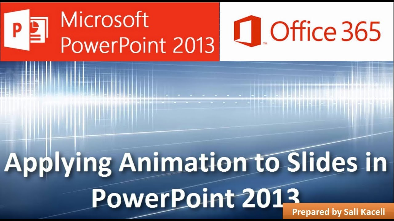 how to add animation to powerpoint 2013