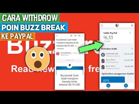 Cara Tukar Poin Buzz Break Ke Saldo Paypal Youtube