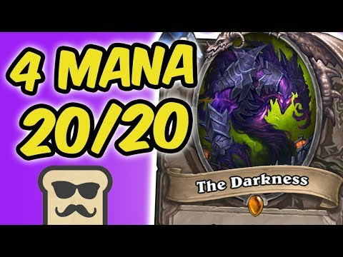 THE DARKNESS: 4 MANA 20/20?! | KOBOLDS AND CATACOMBS | HEARTHSTONE | DISGUISED TOAST