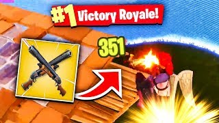 FLYING SHOTGUN *WIN* IN FORTNITE BATTLE ROYALE!! (Fortnite Battle Royale Solo WIN Gameplay)