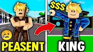 NOBODY TO KING IN BROOKHAVEN! (Roblox Brookhaven RP!)