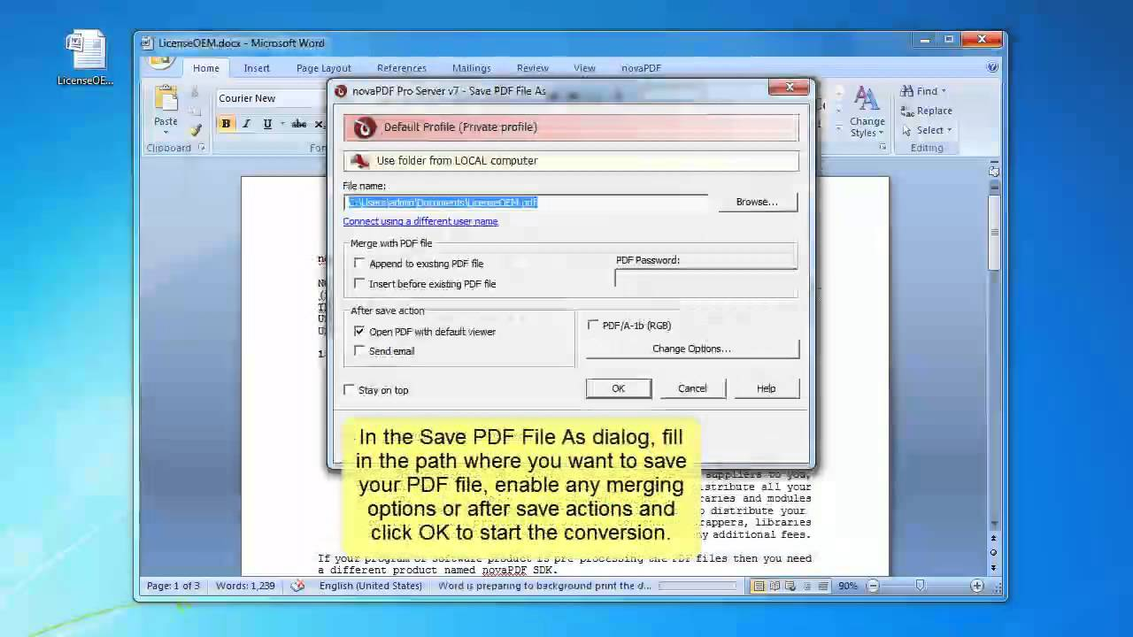 How To Convert Word 2007 PDF