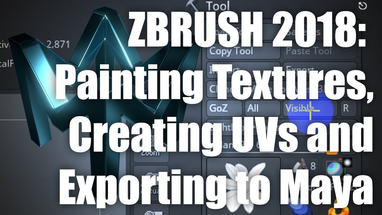 ZBRUSH 2018: Painting Textures, Creating UVs and Exporting to Maya