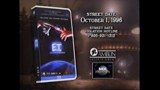 E.T. SCREENING CASSETTE PROMOTIONAL MOVIE TRAILER [VHS] 1996