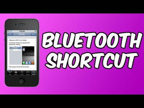 Bluetooth Shortcut - Create A Bluetooth Shortcut On Your Springboard ~ iPod touch | iPhone | iPad