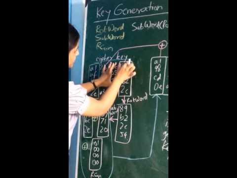 Key Generation in AES Algorithm
