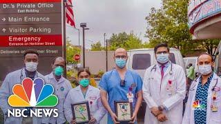 Artist Donates 1,800 Paintings To Hospital Staff On Coronavirus Front Lines | NBC Nightly News