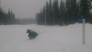 Зимний велопоход с палаткой Зима-Лето и печкой