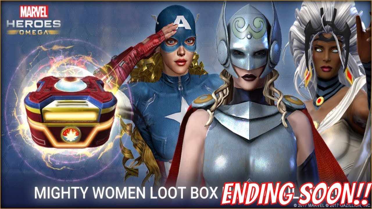 Marvel Heroes Omega News - Mighty Women Loot Box Replaced on 8/24,  Defenders and Elektra Next?