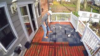 How to install Deck tile DIY